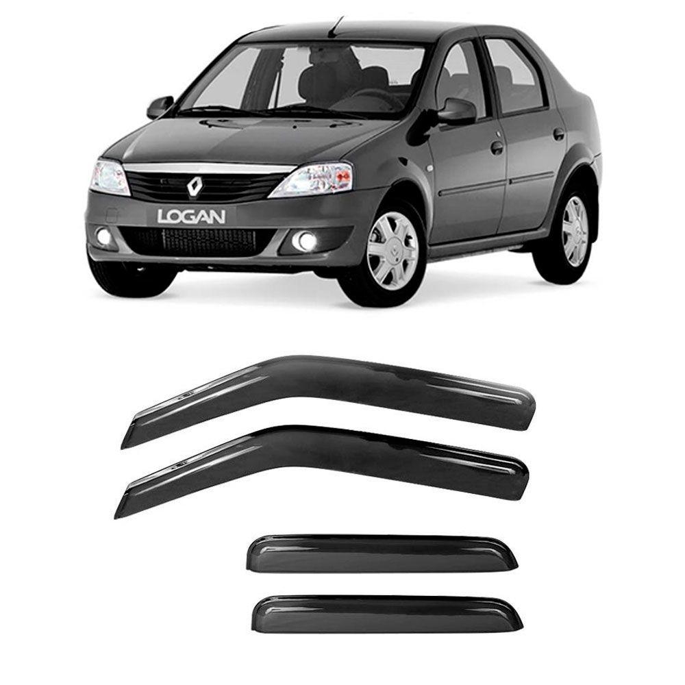 Calha de Chuva Acrilica Adesiva Renault Renault Logan 2007 a 2013  - AutoParts Online