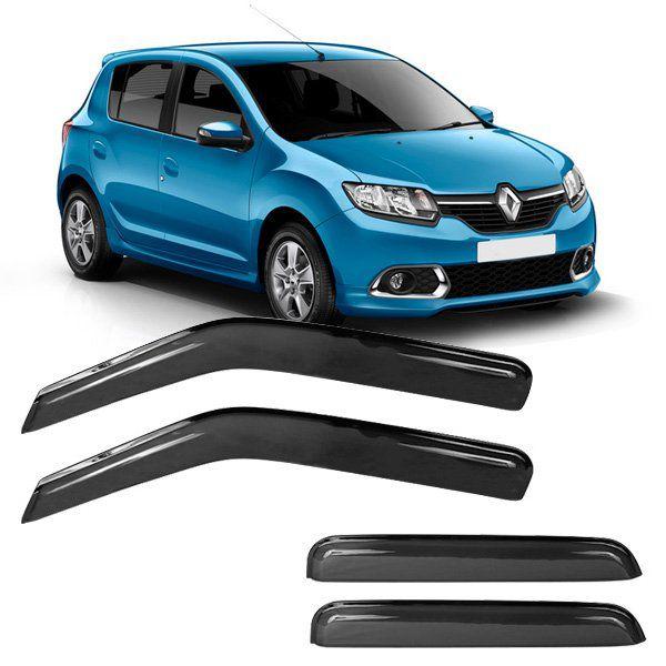 Calha de Chuva Acrilica Adesiva Renault Sandero 2008 a 2013  4 Portas  - AutoParts Online