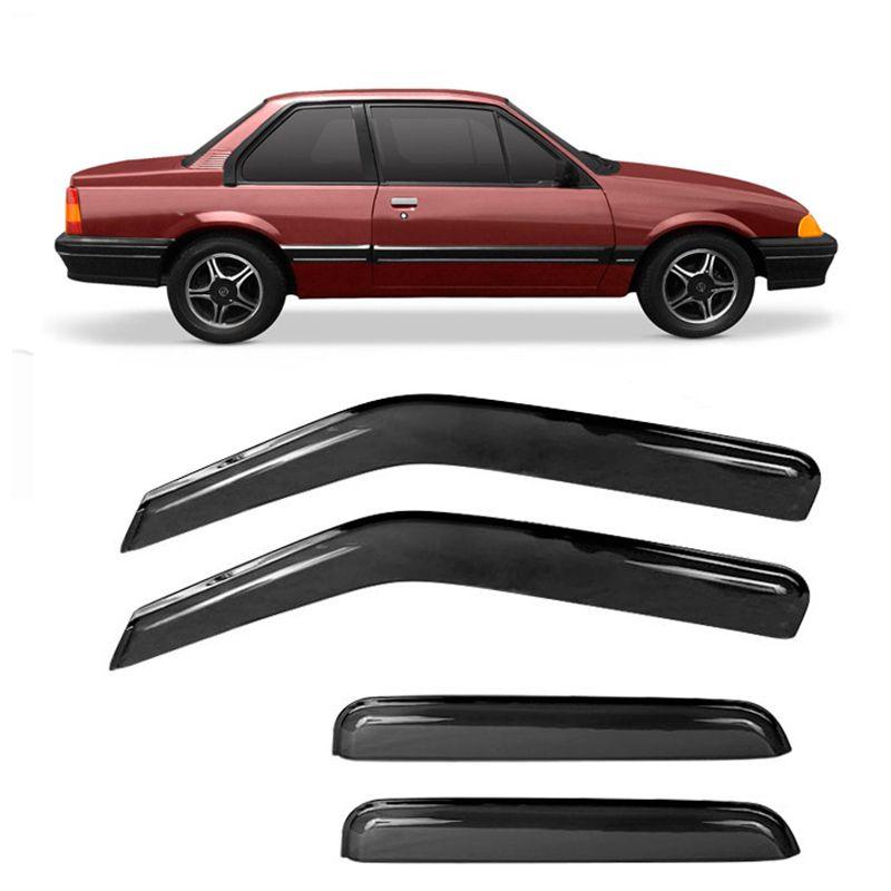 Calha de Chuva Acrílica GM Monza Tubarão 1991 em diante 4 Portas  - AutoParts Online