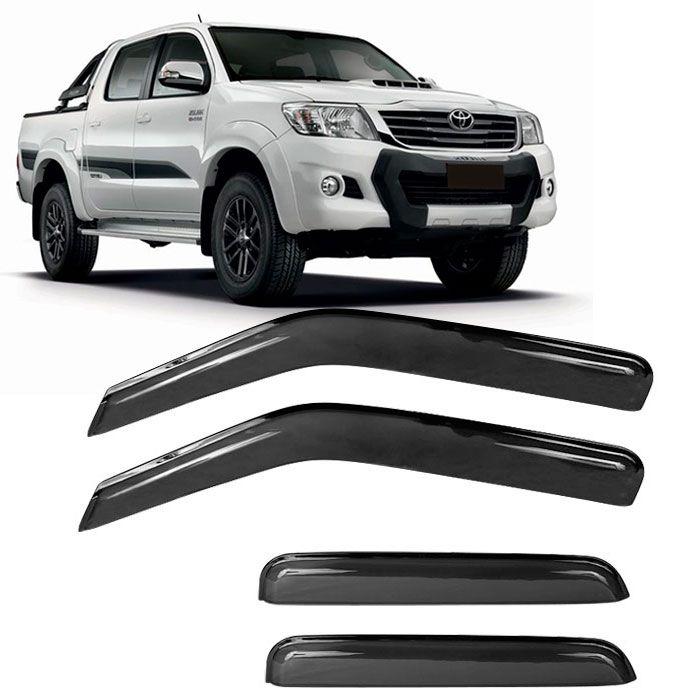 Calha de Chuva Acrílica Hilux SRV Pick Up 4P  - AutoParts Online