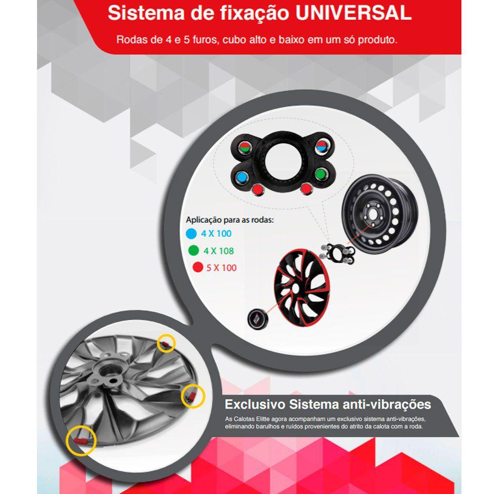 Calota Esportiva Prime Aro 14 Chrome Encaixe Universal Unidade  - AutoParts Online