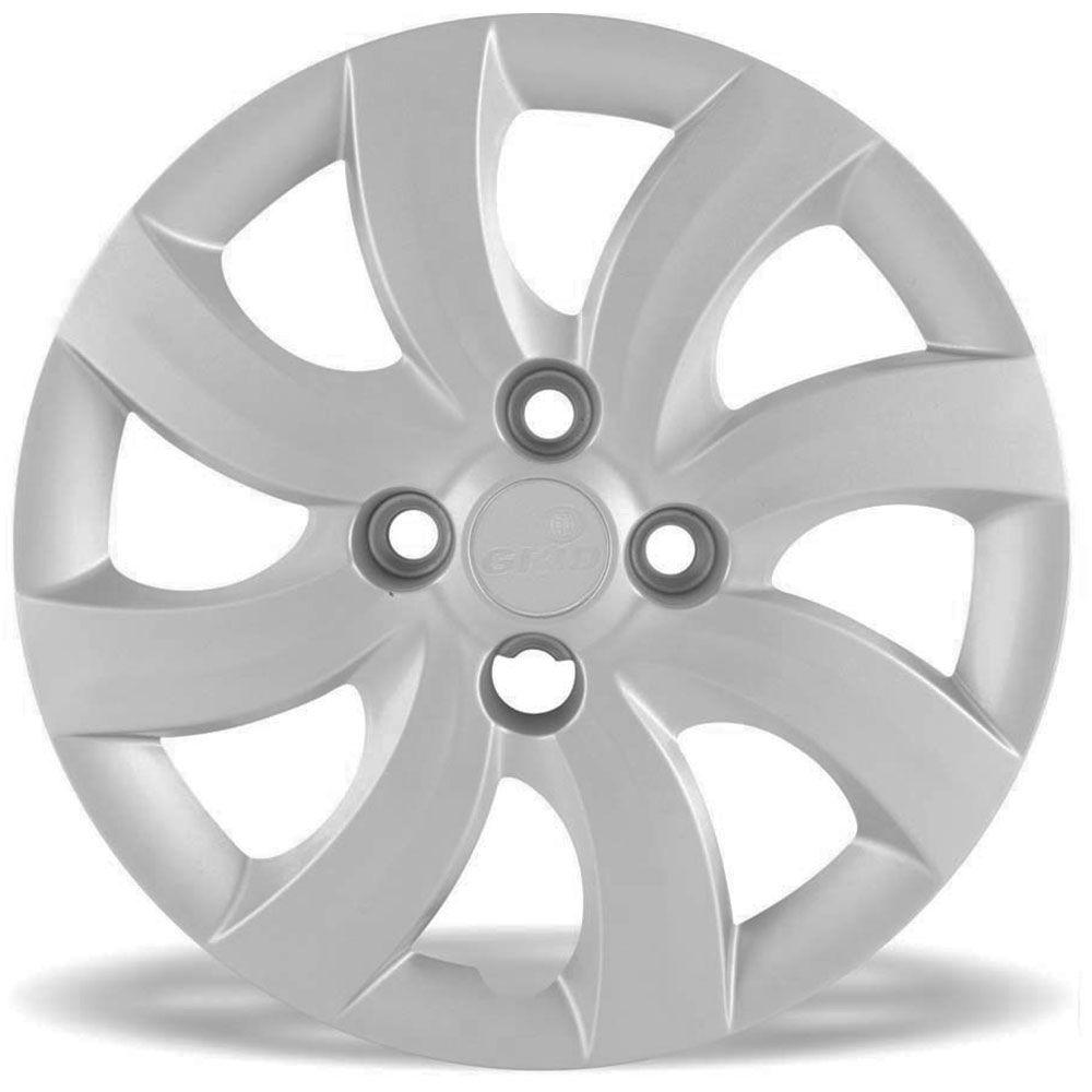 Calota Grid Aro 14 Prata Fiat Palio Attractive 2012 e 2013 Unidade  - AutoParts Online
