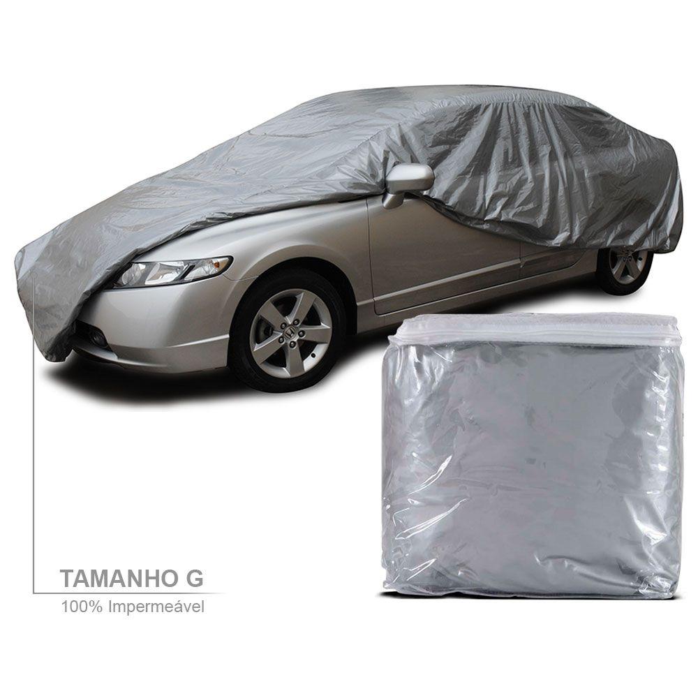 Capa para Cobrir Carro Lisa Impermeável com Forro Total Tamanho G  - AutoParts Online