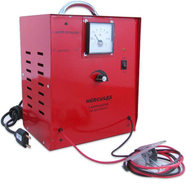 Carregador Automotivo de Bateria 12v 10 Amp Bivolt c/ Amperimetro  - AutoParts Online