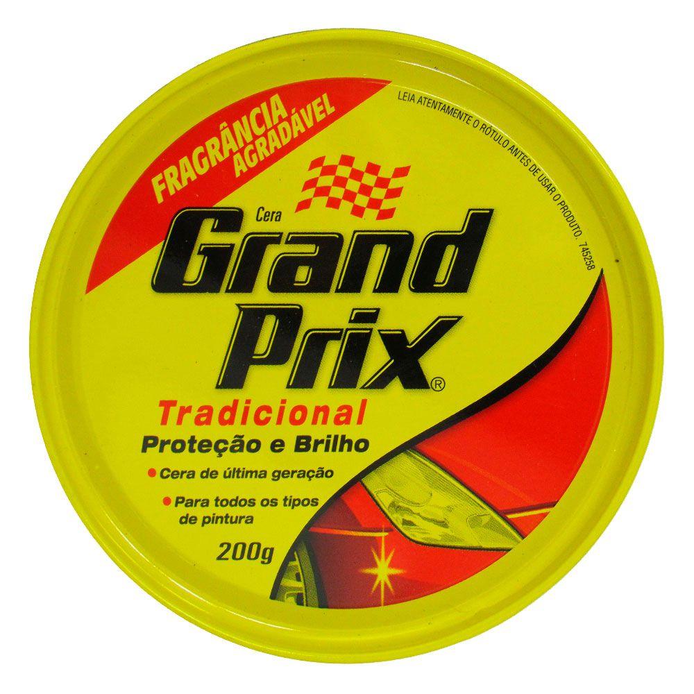 Cera Grand Prix Tradicional Proteção e Brilho 200g  - AutoParts Online