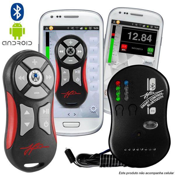 Controle Jfa Smart Control Longa Distância Via Bluethooth Celular - Branco  - AutoParts Online