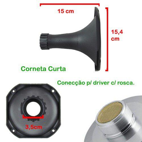 Corneta Fiamon Curta Pânico Lateral Metalizada Vermelha  - AutoParts Online