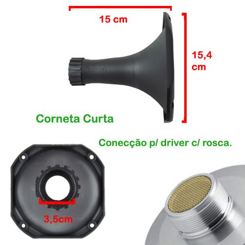 Corneta Fiamon Curta Pânico Metalizado Ouro  - AutoParts Online