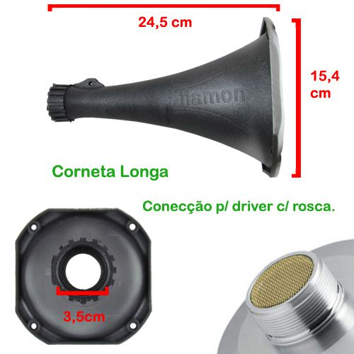 Corneta Expansor Fiamon Longa Metalizada Pânico Amarela  - AutoParts Online