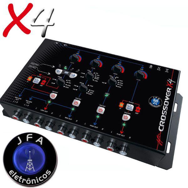 Crossover Digital Eletrônico Jfa X4 4 Vias de Corte  - AutoParts Online