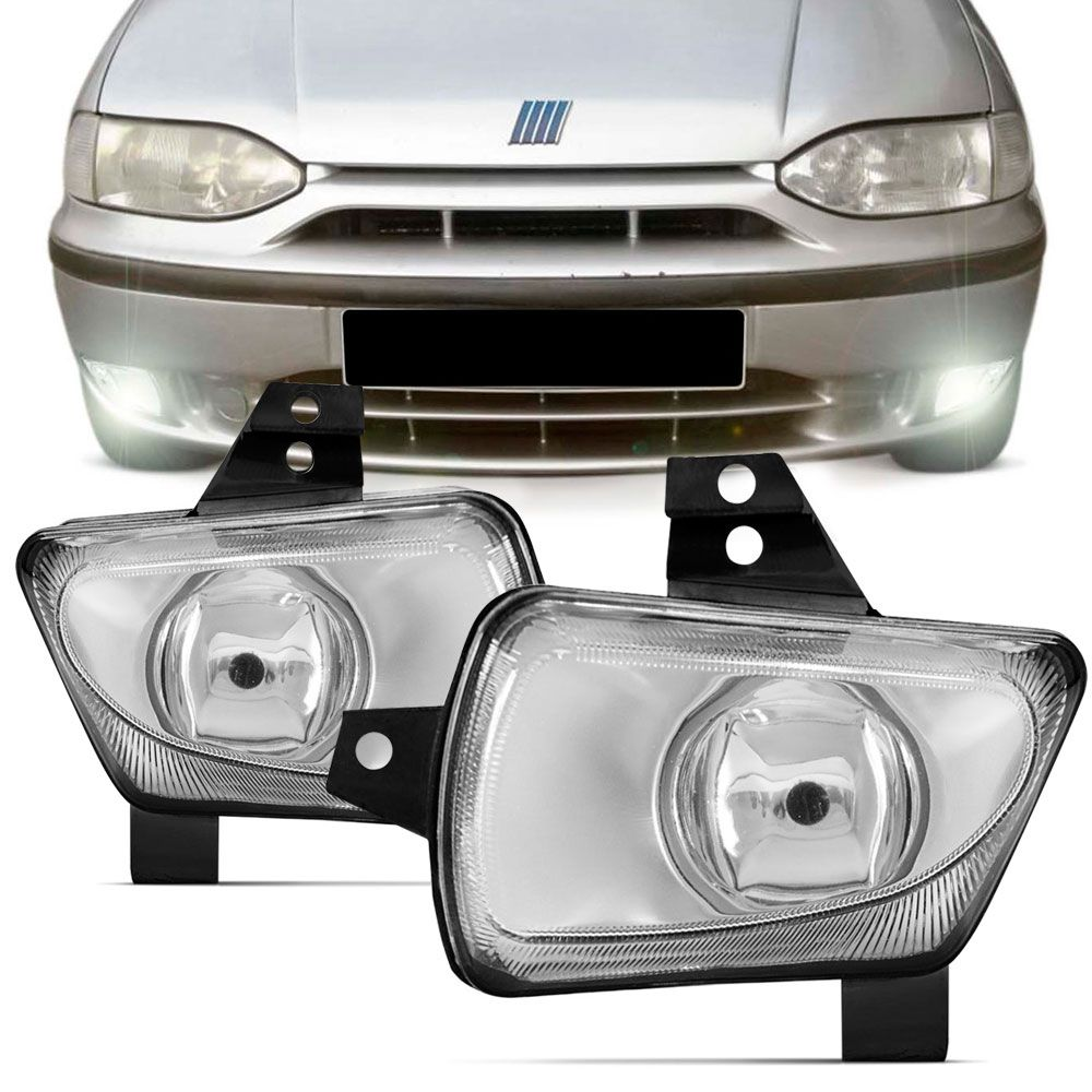Farol de Milha Fiat Palio Weekend Siena 1996 a 2000 Strada 1998 a 2000 Lado Esquerdo  - AutoParts Online