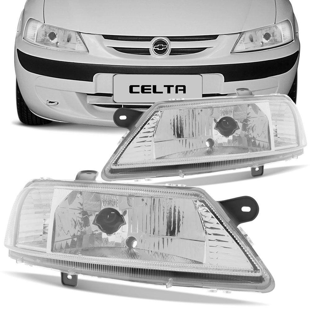 Farol Principal Arteb Gm Celta 2001 a 2005 Lado Esquerdo  - AutoParts Online