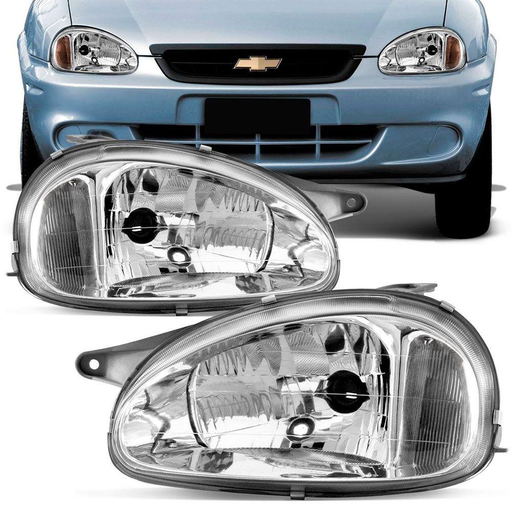 Farol Principal Arteb Gm Corsa Sedan Pickup Wagon 2000 em diante Lado Esquerdo  - AutoParts Online