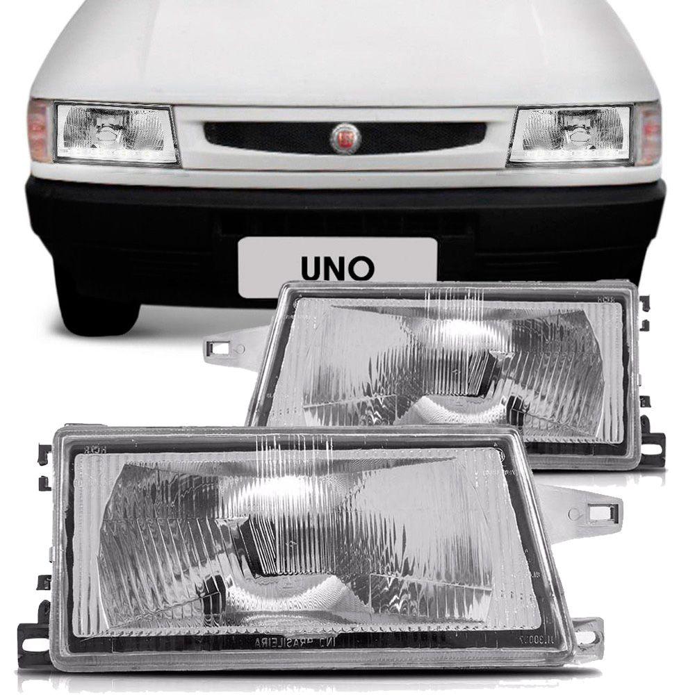 FIAT UNO/PREMIO/ELBA/FIORINO 1991/... LD * LENTE EM TERMOPLASTICO -RC218 ENCAIXE ARTEB - FRENTE BAIXA  - AutoParts Online