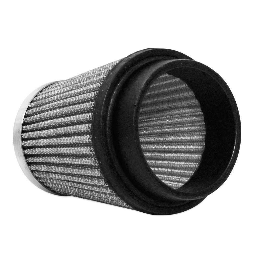Filtro de Ar Esportivo Cônico Alto 9 cm 52 mm Prata  - AutoParts Online