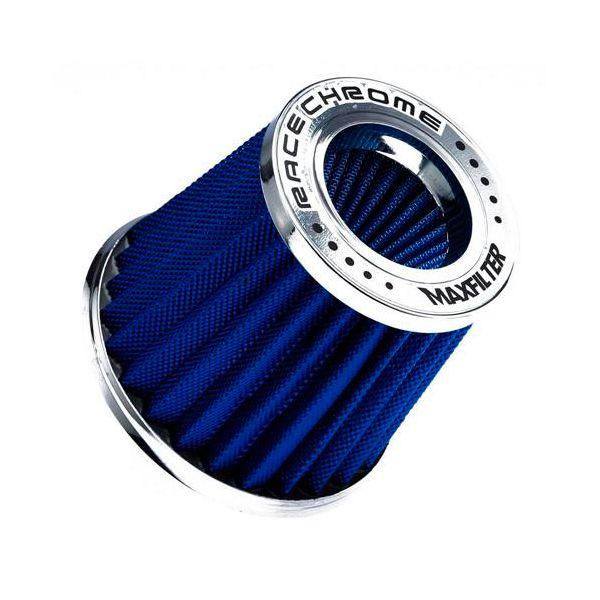 Filtro de Ar Esportivo Race Chrome Max Filter Azul 62/70mm  - AutoParts Online