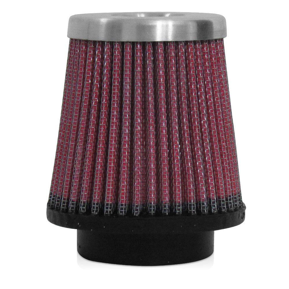 Filtro de Ar Esportivo Rs Air Filter Cônico 52mm Vermelho  - AutoParts Online