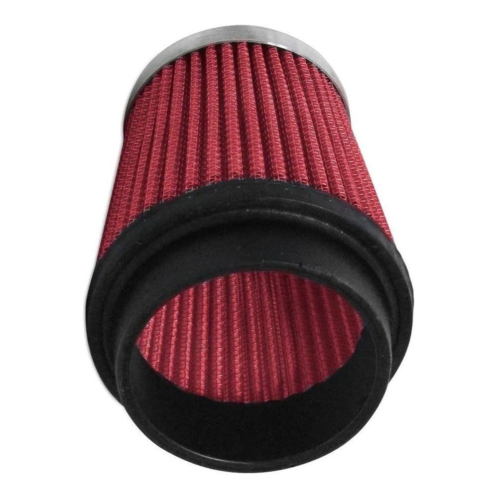 Filtro de Ar Esportivo Rs Air Filter Cônico 62mm Vermelho  - AutoParts Online