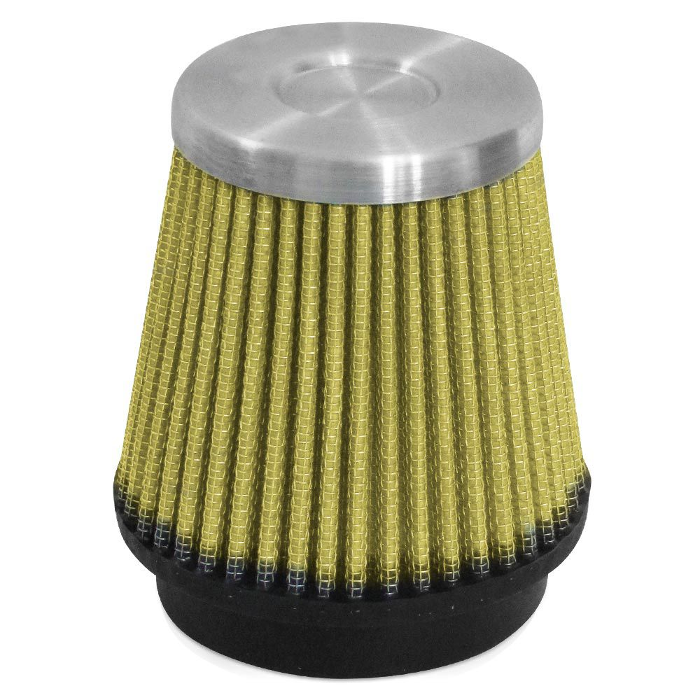 Filtro de Ar Esportivo Rs Air Filter Cônico 70mm Amarelo  - AutoParts Online