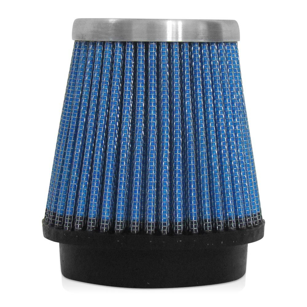 Filtro de Ar Esportivo Rs Air Filter Cônico 70mm Azul