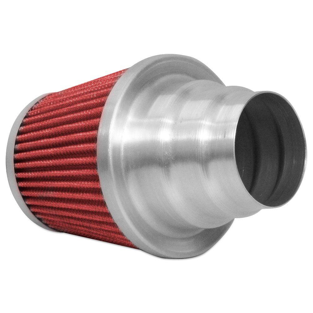 Filtro de Ar Esportivo Rs Air Filter Duplo Fluxo Multi 60mm Vermelho  - AutoParts Online