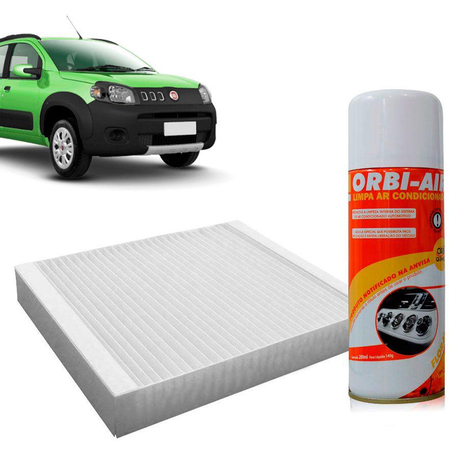 Filtro do Ar Condicionado Cabine Fiat Cinquento Grand Siena Strada Novo Uno Novo Palio + Higienizador  - AutoParts Online