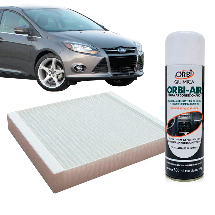 Filtro do Ar Condicionado Cabine Ford Focus 2000 a 2010 com Limpa Ar Condicionado  - AutoParts Online
