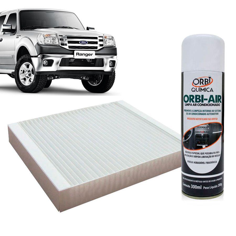 Filtro do Ar Condicionado Cabine Ford Ranger 2012 em diante com Limpa Ar Condicionado  - AutoParts Online