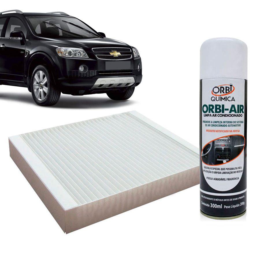 Filtro do Ar Condicionado Cabine GM Captiva 2008 em diante com Limpa Ar Condicionado  - AutoParts Online
