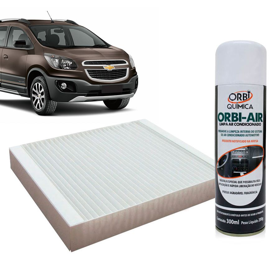 Filtro do Ar Condicionado Cabine GM Cobalt Cruze Sonic Spin Onix Tracker com Limpa Ar Condicionado  - AutoParts Online