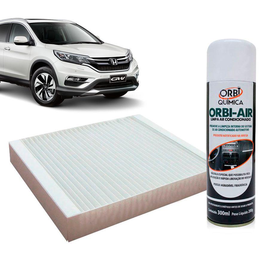 Filtro do Ar Condicionado Cabine Honda Accord Civic CRV 1995 a 2007 + Higienizador  - AutoParts Online