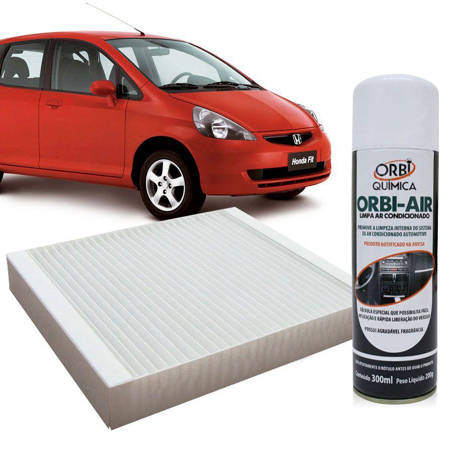 Filtro do Ar Condicionado Cabine Honda City Fit New Fit 2009 em diante com Limpa Ar Condicionado  - AutoParts Online