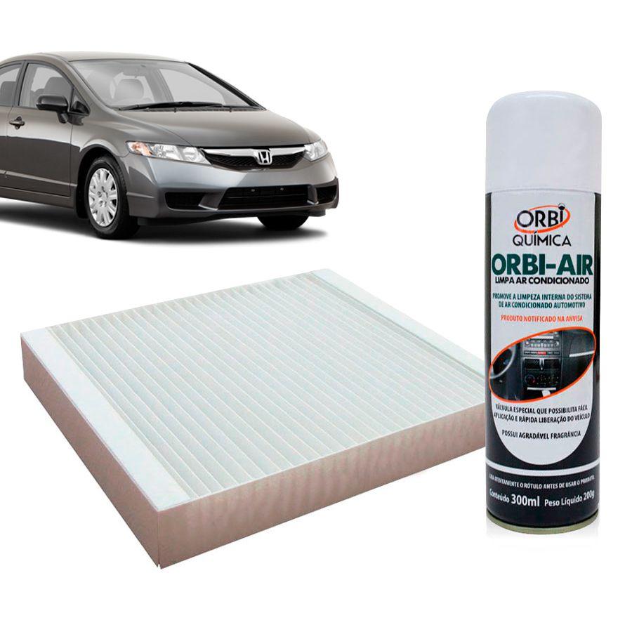 Filtro do Ar Condicionado Cabine Honda Civic 2006 em diante com Limpa Ar Condicionado  - AutoParts Online