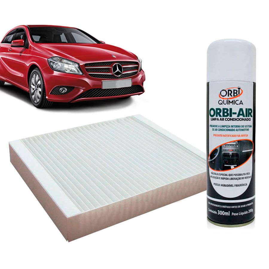 Filtro do Ar Condicionado Cabine Mercedes Classe A 1997 em diante com Limpa Ar Condicionado  - AutoParts Online