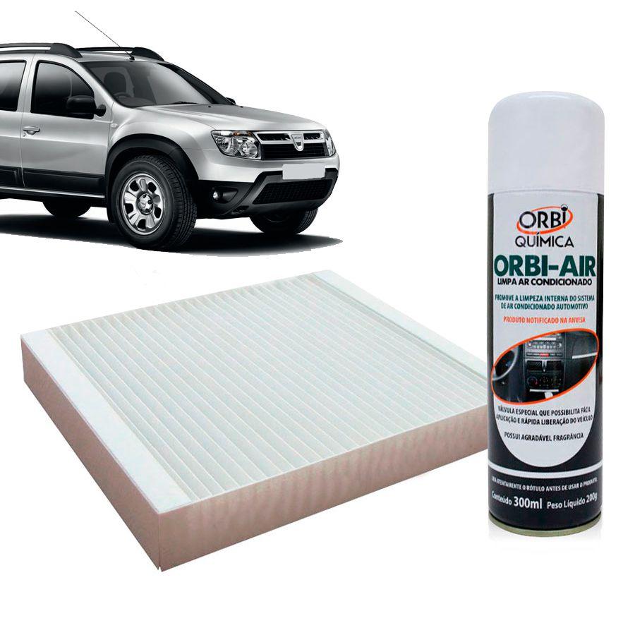 Filtro do Ar Condicionado Cabine Renault Duster Logan Sandero 2011 em diante + Higienizador  - AutoParts Online