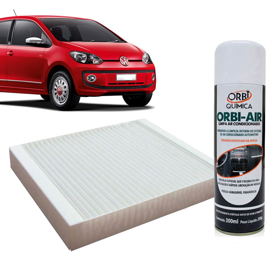 Filtro do Ar Condicionado Cabine Vw Up 2014 em diante com Limpa Ar Condicionado  - AutoParts Online