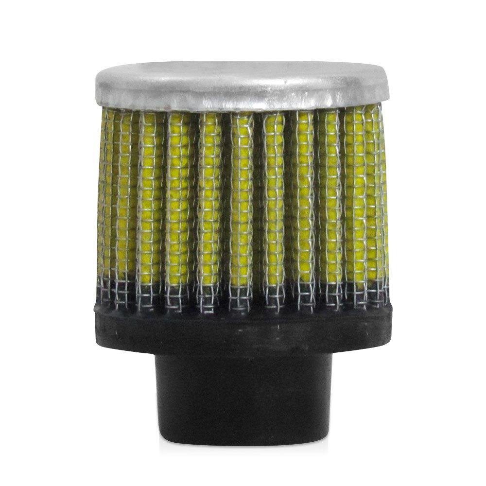 Filtro Esportivo Respiro de Oleo Rs Air Filter 16mm Amarelo  - AutoParts Online