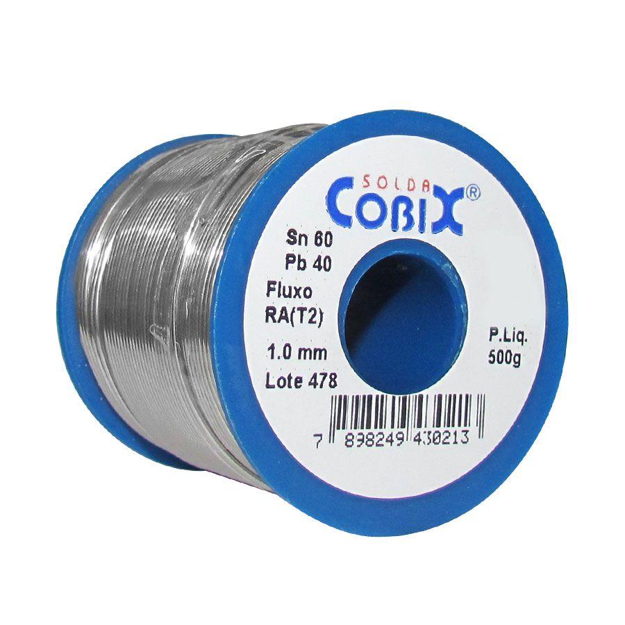Fio de Solda Azul Cobix Rolo 60x40 1mm 500 Gramas  - AutoParts Online