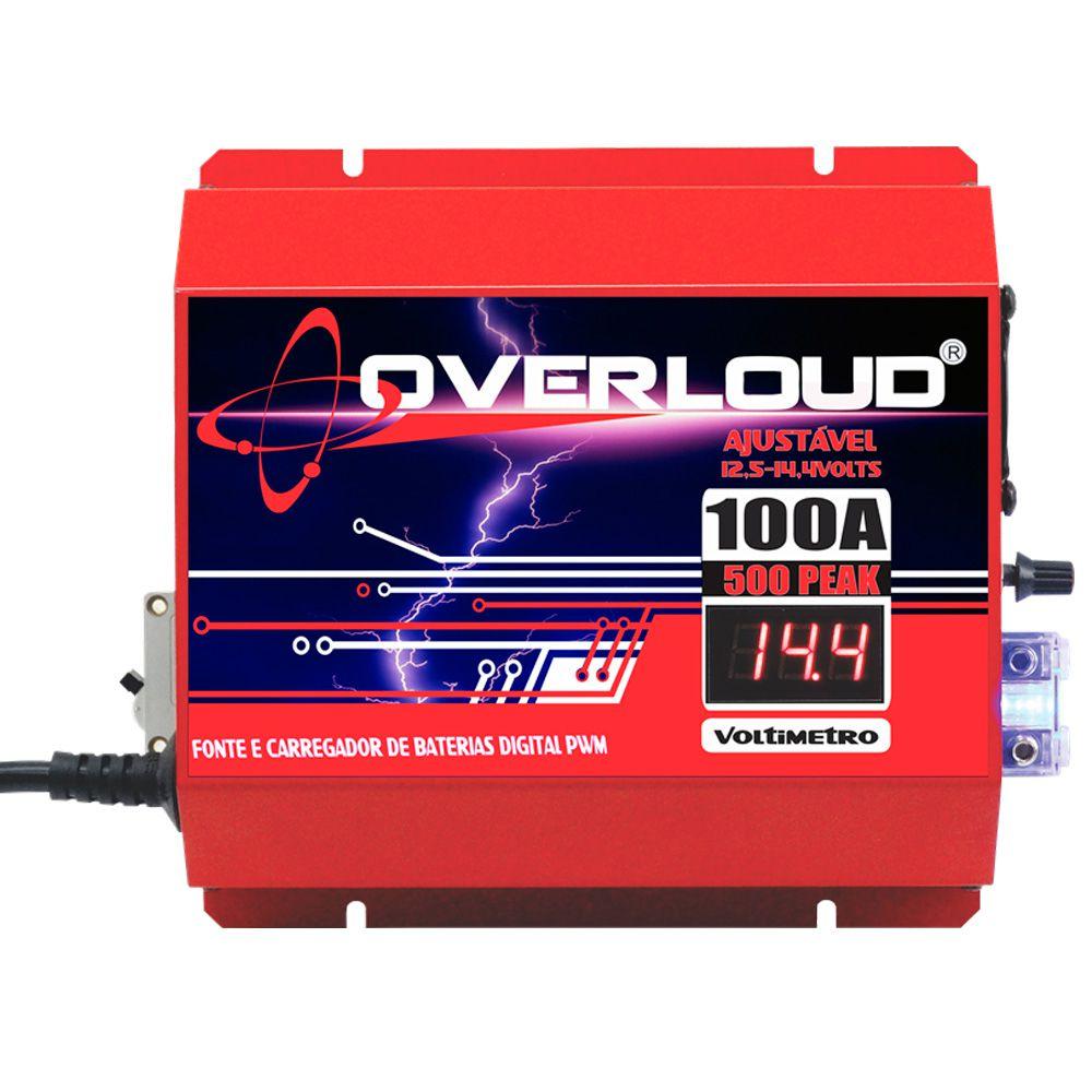 Fonte Carregador Bateria 100A Bivolt  - AutoParts Online