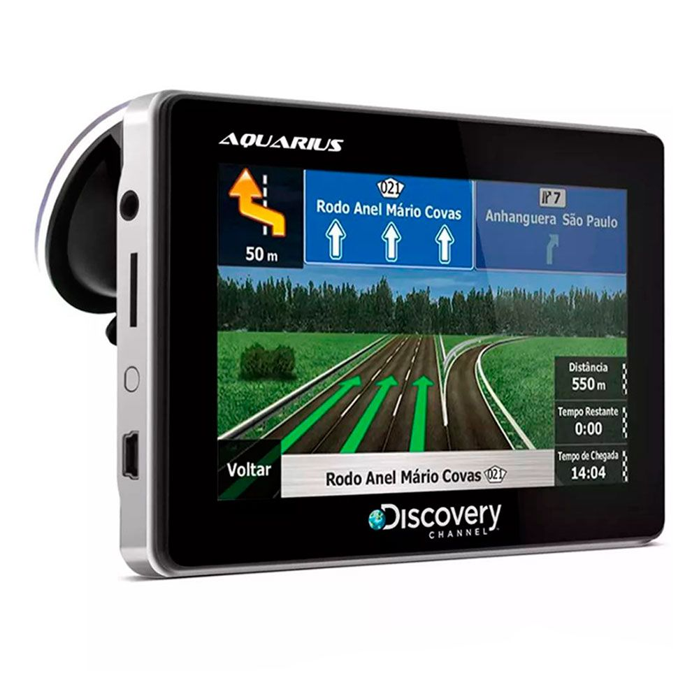 GPS Automotivo Discovery Channel Tela 4.3 Slim Touch Screen com TV Digital  - AutoParts Online