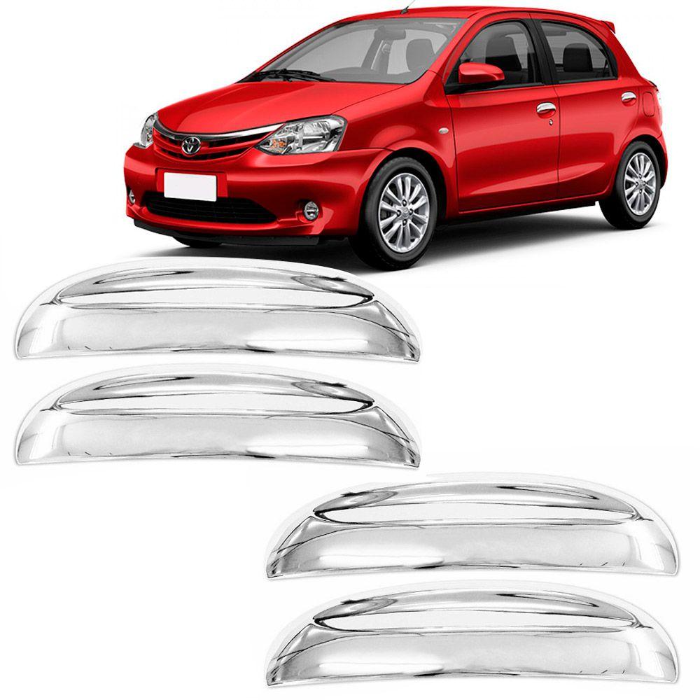 Jogo Aplique Cromado para Maçaneta Toyota Etios 2013 4 Portas em diante  - AutoParts Online