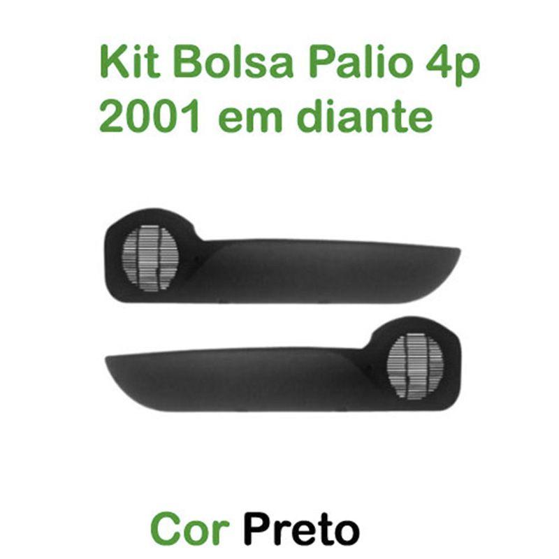 Kit Bolsa de Porta Fiat Palio 4 Portas 2001 em diante Cor Preto  - AutoParts Online