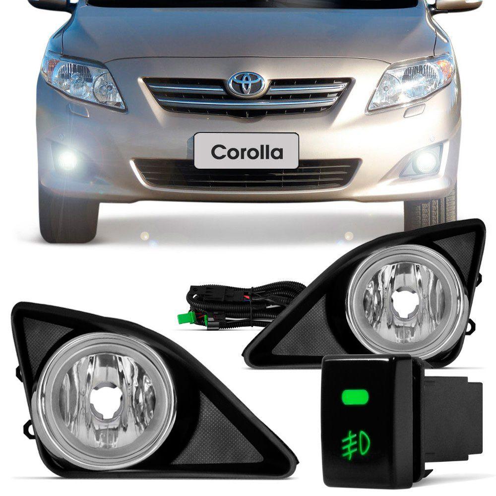 Kit de Farol de Milha Toyota Corolla 2008 a 2009 com Grades  - AutoParts Online