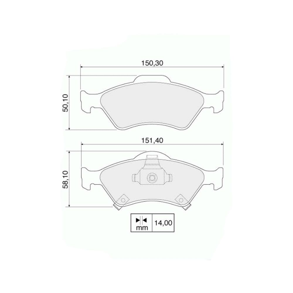 Kit Discos de Freio e  Pastilhas Dianteiros Honda Fit 1.4 1.5 16v 2003 a 2008  - AutoParts Online