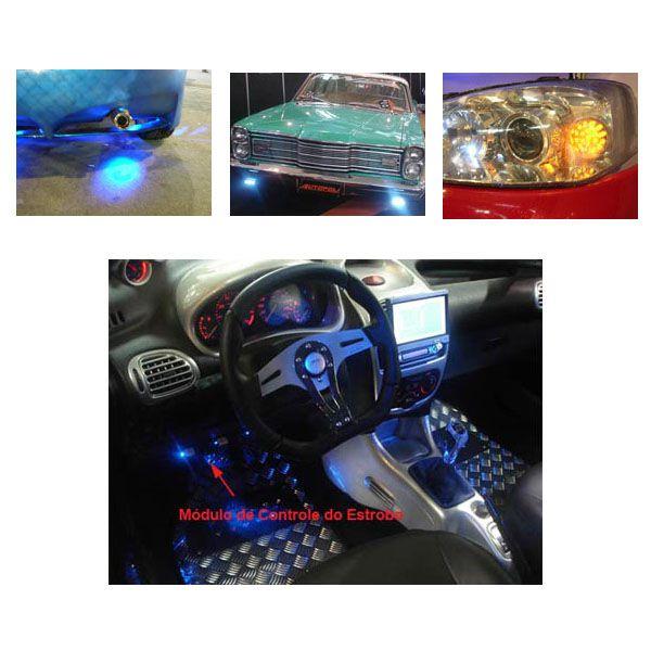Kit Farol Milha Autopoli Ap813 Strobo Safetycar 19 Leds Luz cor Super Branco  - AutoParts Online