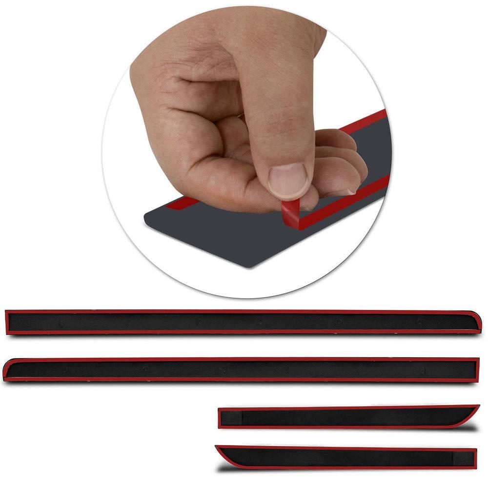 Kit Friso Lateral Gm Onix 2012 a 2019 4 portas 4 peças preto  - AutoParts Online