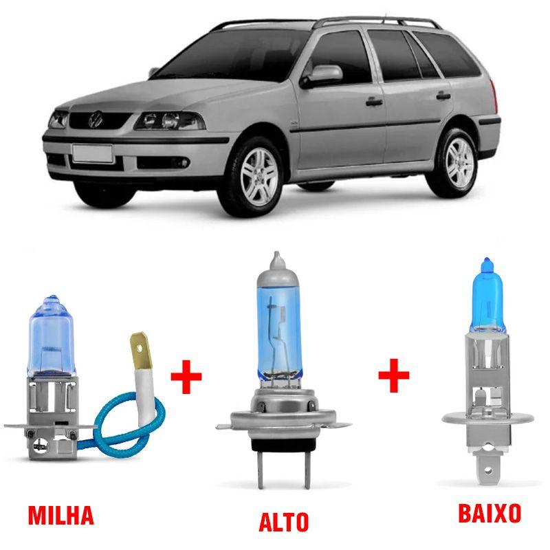Kit Lâmpadas Super Branca H1 + H3 + H7 Volkswagen Parati G3 Farol Duplo  - AutoParts Online