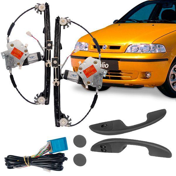 Kit Vidro Elétrico Dianteiro Sensorizado Fiat Palio Fire 4 Portas 2001  - AutoParts Online