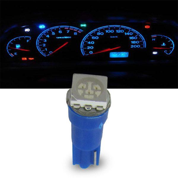 Lâmpada 1 Led Smd Pinguinho Iluminação Interna Azul Par  - AutoParts Online