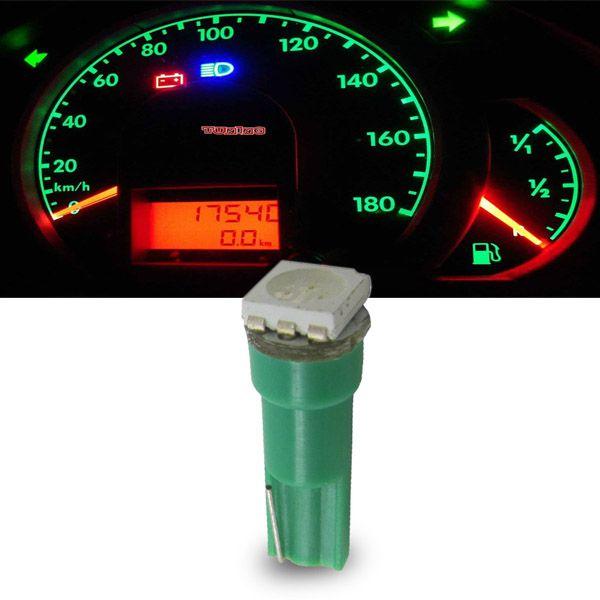 Lâmpada 1 Led Smd Pinguinho Iluminação Interna Verde Unidade  - AutoParts Online